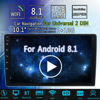 10.1Inch 2Din for Android 8.0 Car MP5 Player 1+16G IPS 2.5D Touch Screen Stereo Radio GPS WIFI FM with Backup Carema
