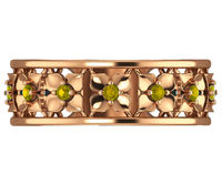 Rose Gold Flower Eternity Wedding band Flower Band in Yellow, Green, Blue, Red and Purple Gemstones $545.00