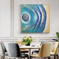 Modern abstract Acrylic painting on canvas original Gold art seascape painting heavy texture large Wall Art wall pictures cuadros abstracto $148.75