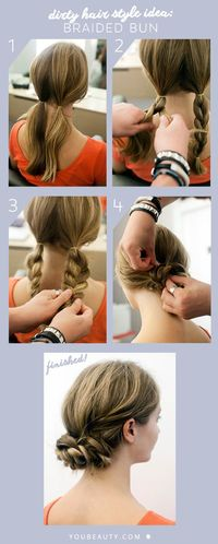 :)) it works!! Tried it, it's super easy (when I say it's easy, it must be easy because I am super lazy about my hair) and really cute, if you have layers they may stick out, but since my hair is curly and has a messy look anyway i...