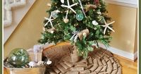 How to Make a No Sew Burlap Tree Skirt