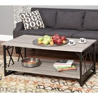 Jaxx Collection Coffee Table, Multiple Colors - Walmart.com $99 - replace fake weathered wood with actual boards