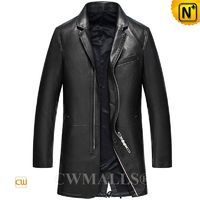 Haute Couture | Men Designer Leather Car Coat CW808038 | CWMALLS.COM
