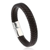 Corrosion resistance titanium clasp Easy & quick magnetic closure Leather band Casual / everyday style