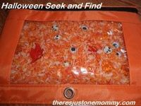 Halloween brings lots of little trick-or-treat trinkets just perfect for a Halloween sensory bin like this one!