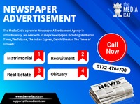 Newspaper Advertisement is one of the best traditional as well as the modern way to reach to your costumer's, TheMediaCat Ad agency makes sure that your product reaches the right audience in an attractive visual form. Now, publish your Ads in numero...
