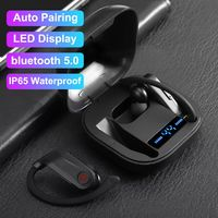 TWS Q62 Wireless bluetooth 5.0 Hifi LED Display Earphone Large Capacity Waterproof Headphone With Charging Box