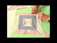 """""""Twice as Nice"""" video tutorial - three blocks from sets of 3, 2.5-inch strips. From Quilt in a Day"""