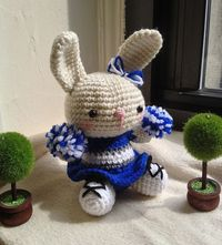 Cheerleader Bunny Amigurumi - FREE Crochet Pattern and Tutorial by Jennifer Y. Wang, thanks so xox