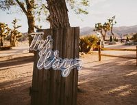 This ranch not only provided a secluded, beautiful location for this intimate southwestern Joshua Tree wedding, but also a perfect canvas for the theme.