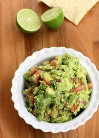 "Ingredients: 4 ripe avocados 1/2 cup red onion, diced finely 2 roma tomatoes, seeded and diced finely 1/4 �€"" 1/2 cup cilantro, chopped finely 1 lime, juiced 1 te"