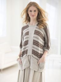 Pocketed Pullover pattern free from Lion Brand. How stylish and on-trend is this?! Love it!