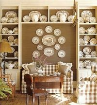 So in love with brown buffalo check for fall with dark antique furniture