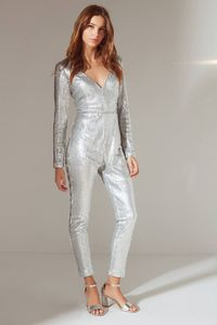 Shop UO Extreme Plunge Sequin Jumpsuit at Urban Outfitters today. We carry all the latest styles, colors and brands for you to choose from right here.