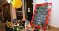 Construct your Own Soda Bar for Baby Shower with construction or transporation car theme