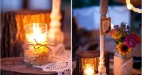 candle ideas & use of doilies