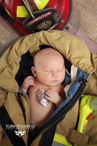 Firefighter newborn <3 Firefighter Baby Katie Woodring Photography