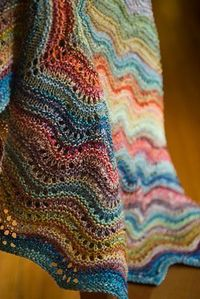 crochet pattern - feather and fan comfort shawl