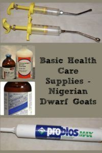 "Basic Health Care Supplies �€"" Nigerian Dwarf Goats"