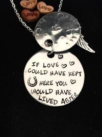 Loss of HORSE Pet Memorial Necklace In by masterPEACEdesign