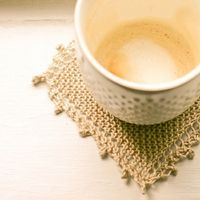 Cozy Linen Coasters - A Quick Knit Gift