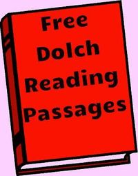 Free Dolch Reading Passages for words lists (1-11)