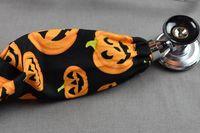 Halloween Stethoscope Cover | Pumpkin Fabric Stethoscope Cord Cover | Nurse Gift | Doctor Gift | Stethoscope Sock | Stethoscope Accessories $10.99
