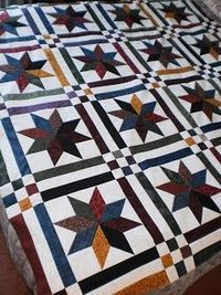 Quilt, Knit, Run, Sew: Lemoyne Star Quilt | See more about star quilts, knits and stars.