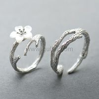Gullei.com Matching Couple Rings Jewelry Gift (Adjustable Size)