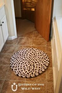 DIY: Braided Rug Tutorial - made using old towels.