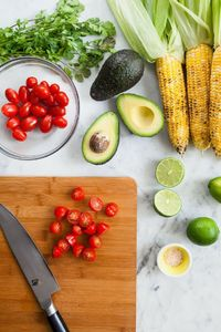 Bacon, Corn, Avocado and Tomato Salad - I think I will just remove the bacon for a vegetarian version!