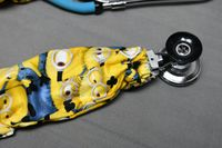 Stethoscope Cover Minions | Minion Fabric Stethoscope Cord Cover | Nurse Doctor Gift | Stethoscope Sock | Stethoscope Accessories $10.99