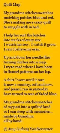 The Poem Farm: Quilt Map & Spark 18! This poem celebrating creativity is from The Poem Farm, Amy Ludwig VanDerwater's ad-free, searchable blog full of hundreds of poems, poem mini lessons, and poetry ideas for home and classroom - www.poemfarm.amy...