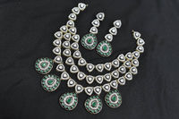 beautiful black rhodium polished antique style necklace with uniquely crafted Degine. $140.00