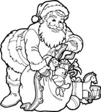 Simple Christmas Drawings | Santa Clause Coloring Pages for Kids