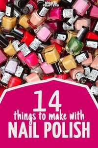 Got old, colorful nail polish? Craft with it! These fun nail polish crafts are easy, doable, and a great way to use up the polish you don't wear.