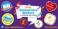"""Anniversary Stickers Printing""