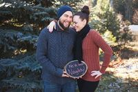 Funny holiday Pregnancy reveal from Natalie Bee Photography