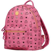 MCM Small Stark Four Studded Backpack In Rose
