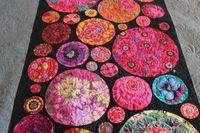 Angela Walters does beautiful quilting! This Kaffe fabric quilt is no exception.