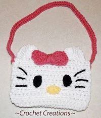 Crochet Creative Creations- Free Patterns and Instructions: Crochet Hello Kitty purse