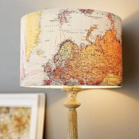 modge podge a map to a lampshade- instead, I used sheet music and a tapered square lamp shade (which I don't recommend using). I suggest spraying the map or music to the lampshade BEFORE modge podging to reduce wrinkles and to make the paper a...
