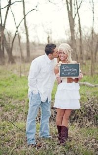 Sick of all your friends posting engagement photos on Facebook? One guy decided to do something about it -- something hilarious. | See more about engagement pictures, dress cowboy boots and engagement photos.