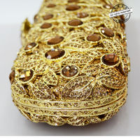 Women Hollow Out Evening Clutch Bag / long plated $154.05