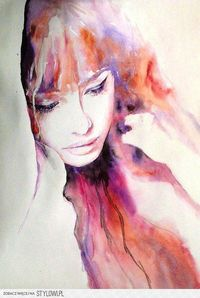 effortless and gorgeous. Watercolor. Yum