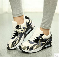 Breathable Camouflage Black Footwear Girl Casual Air Flat With Walking Canvas 2015 Slip Lace up Flats Women Platform Shoes 004
