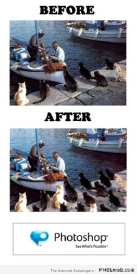 Photoshop - before & after humor