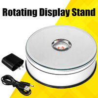USB LED Motorized Turntable Display 360° Electric Rotating Jewelry Display Stand Turntable Tool