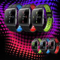 XANES® X1 1.3'' Color Touch Screen IP68 Waterproof Smart Watch Heart Rate Monitor Stopwatch Message Push Fitness Sports Bracelet