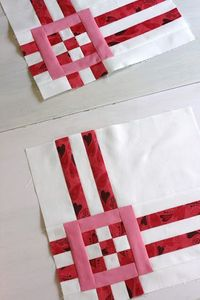 A Little Bit Biased--really cute block tutorial Would make nice corner squares for a border